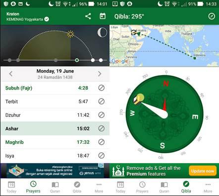 3 Aplikasi Pengingat Waktu Sholat di Android Terbaik dan Gratis