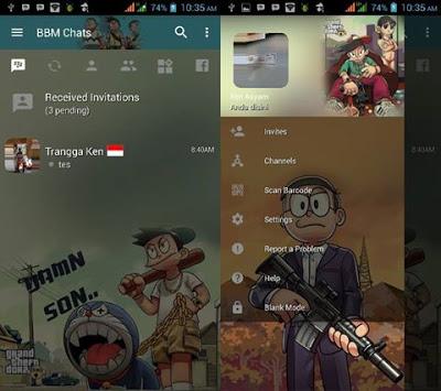 BBM Doraemon GTA Transparan