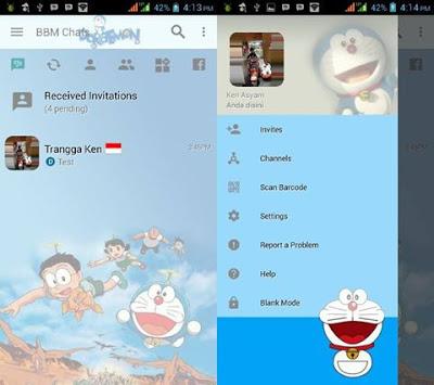 5 BBM Mod Tema Doraemon Terbaik dan Ringan Cocok untuk RAM Kecil