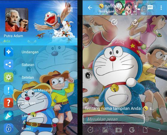 BBM Mod Thema Doraemon