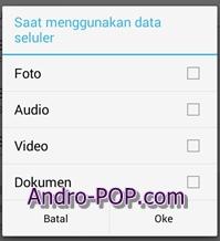 Cara Hemat Kuota Internet di Aplikasi WhatsApp Android