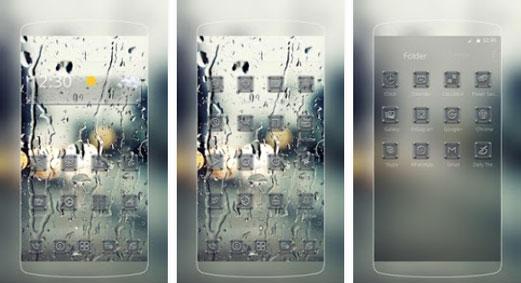 Transparent Rain Glass
