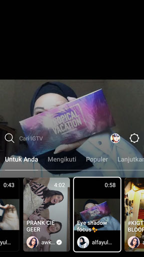 Tutorial Unggah Video ke IGTV