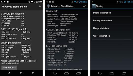 Menggunakan Aplikasi Advance Signal Status