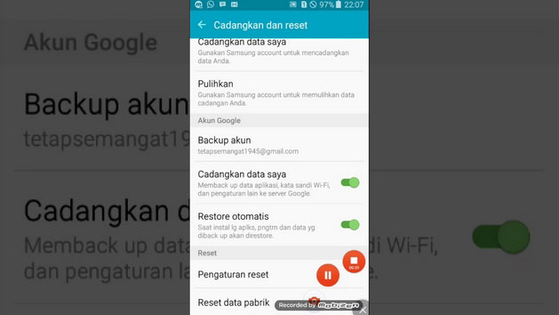 Menu Setting di Android