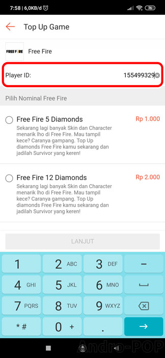 Cara Top Up Diamonds Free Fire (FF) via Shopee Murah!