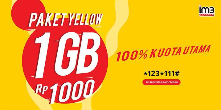 Cara Daftar Paket Yellow Indosat Ooredoo Lewat SMS